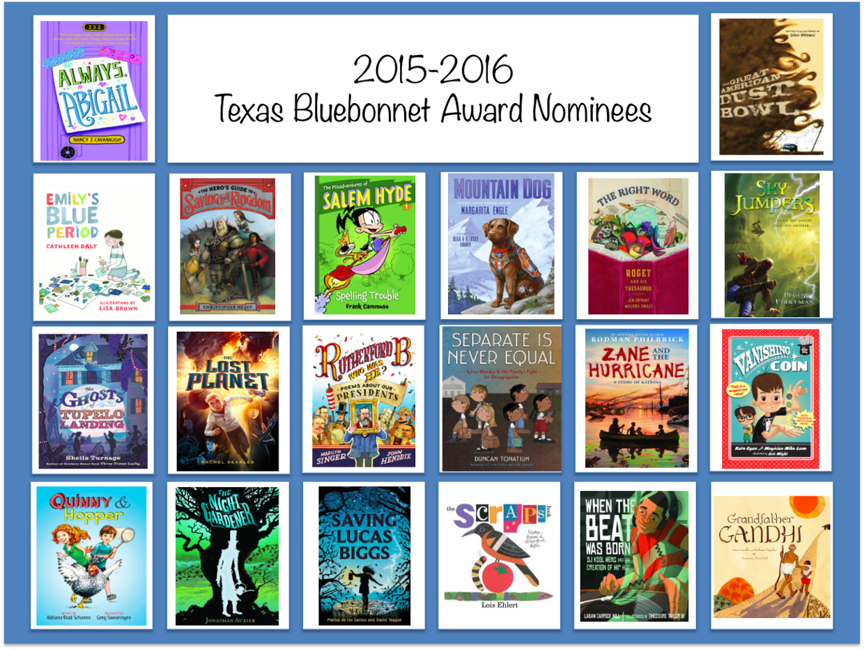 Texas Bluebonnet Reading List Book Videos 2015-2016