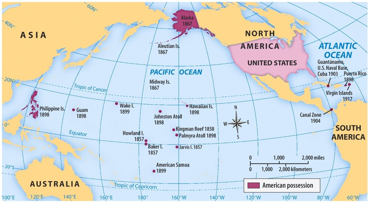 US Imperialism Map ThingLink - Treaty of paris map