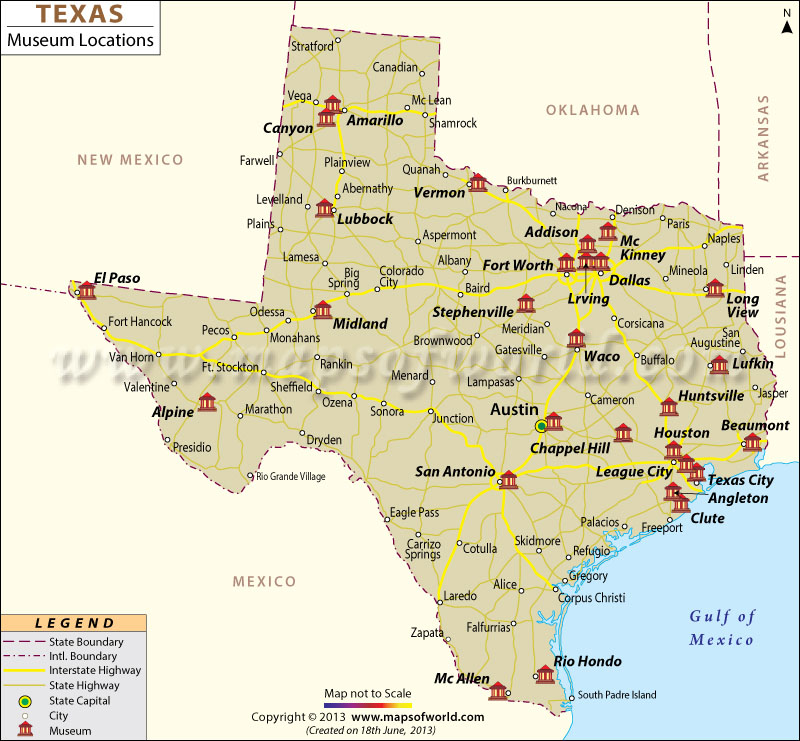 Texas Map With All Its Cities – Jerusalem House