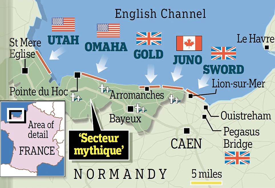 Map of the Normandy beaches during DDay  ThingLink