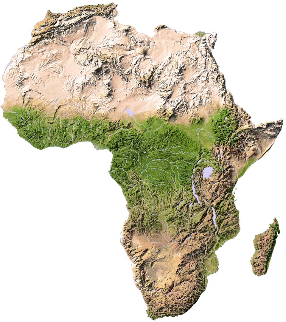 Topo Map Of Africa Map Of Africa: Africa Topographical Map