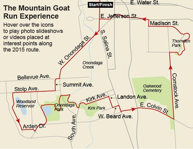 Mountain Goat Run map