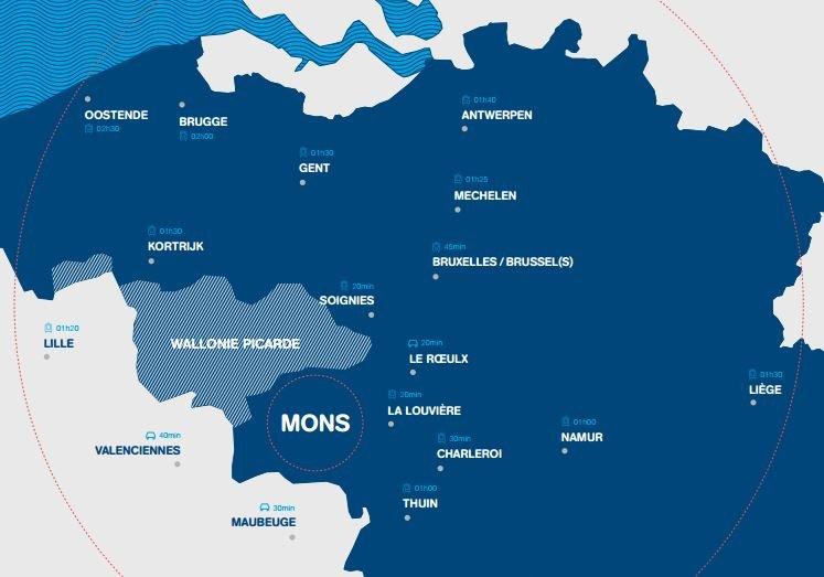 L'offre culturelle des 18 partenaires de Mons 2015
