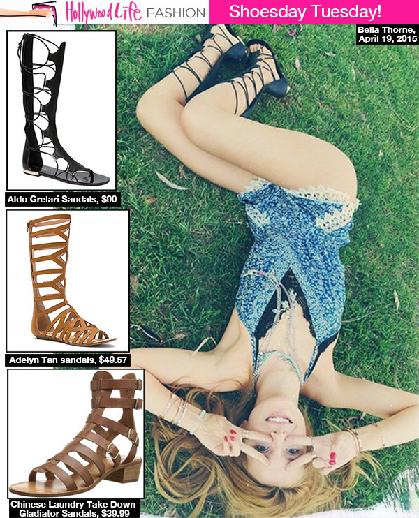691484e8b55 Gladiator Sandals — 5 Ways To Rock The Trend   Get Bella Thorne s ...