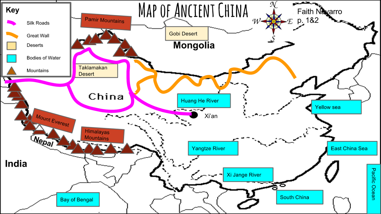 Ancient china map faith navarro p2 publicscrutiny Images