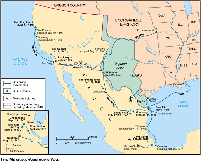 Remix Of Mexican American War ThingLink - Map of the us before the mexican american war