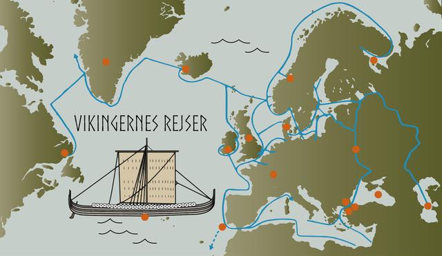 Billedresultat for vikingetogter kort