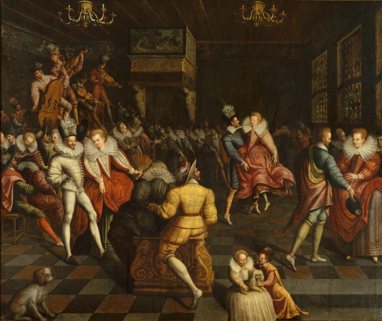 ANONYME FRANÇAIS ( XVIe siècle)Bal à la cour des ValoisVe...