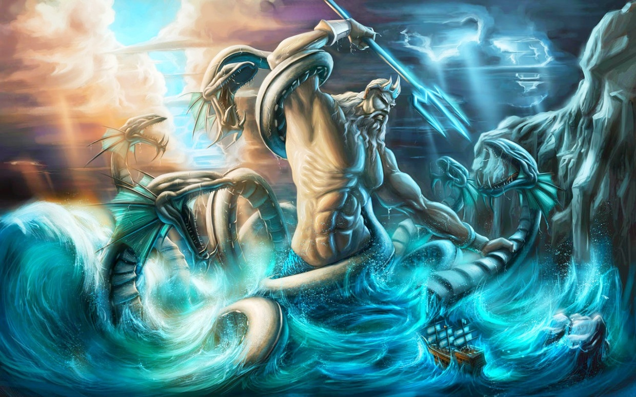 Image result for angry poseidon picture