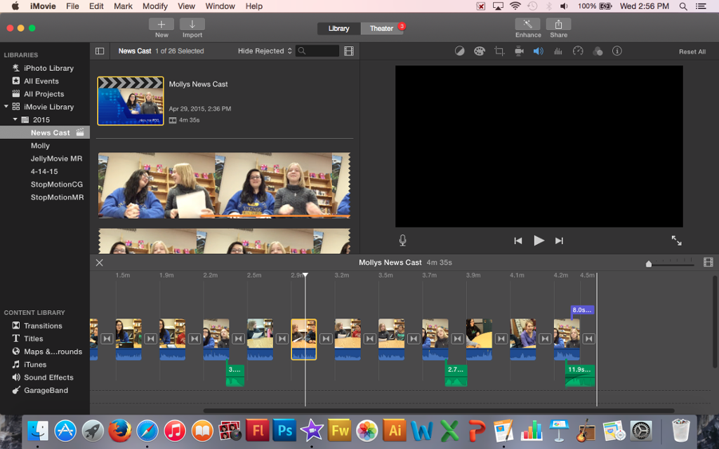 imovie how to add text and change the op