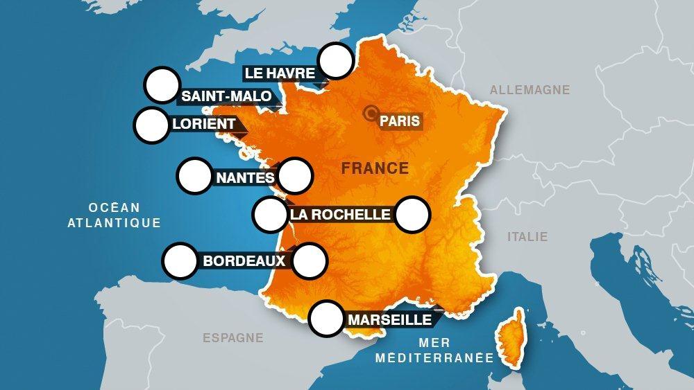 Esclavage A La Decouverte Des Ports Negriers De L Hexagone Carte
