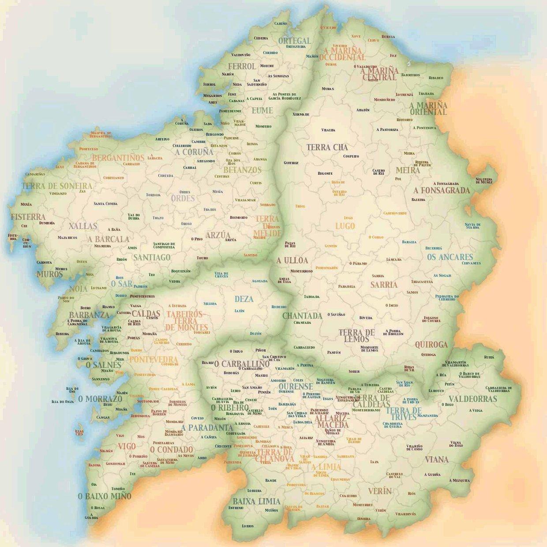 Mapa do Día das Letras Galegas
