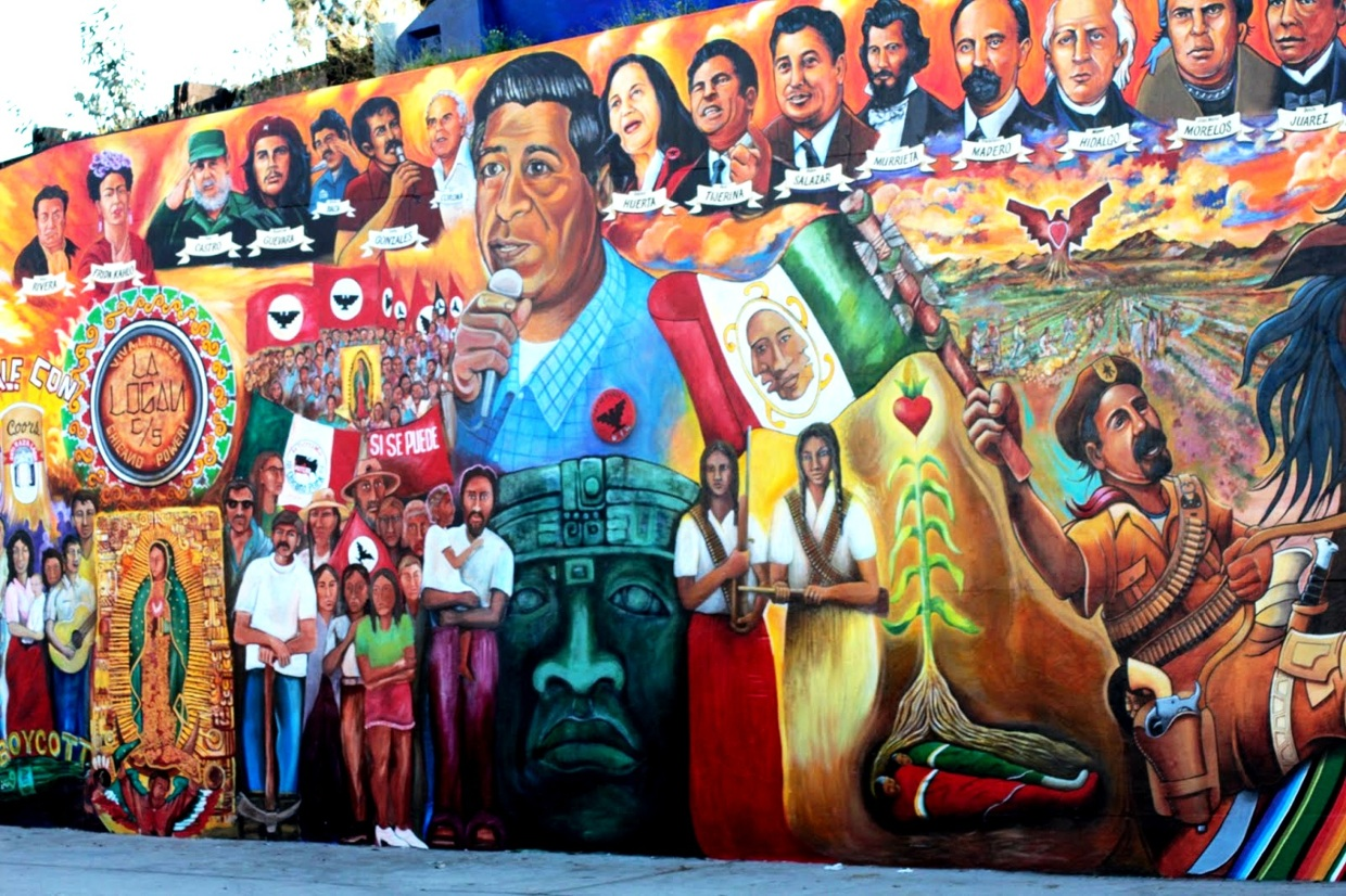 Historical mural chicano park san diego thinglink for Mural history