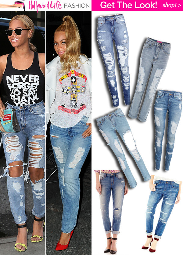 991c2a59899 Beyonce's Ripped Jeans — SHOP Her Exact Pair Under $40 & 5 Ways To ...