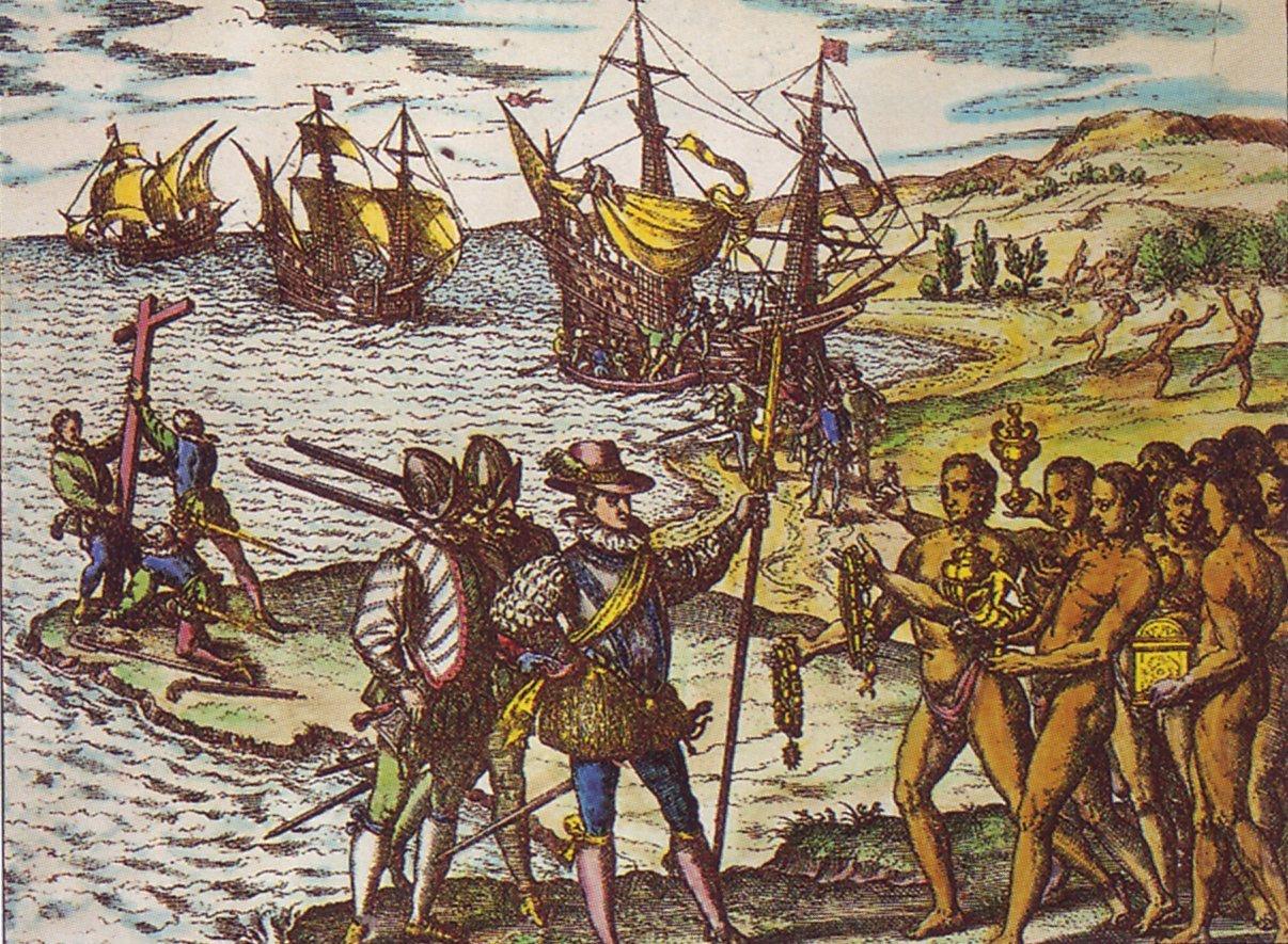 Le 6 décembre 1492, Christophe Colomb et les deux bateaux...