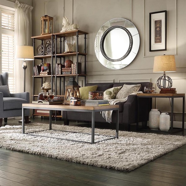Chic comfy industrial living room thinglink for Quelle couleur mettre dans un salon