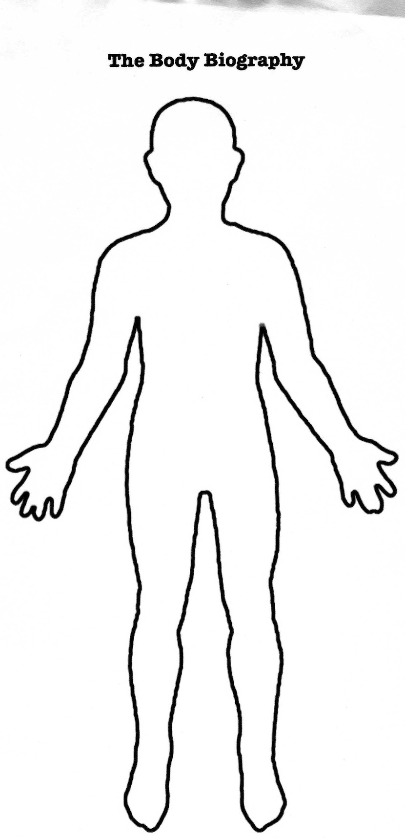 Human body 2 for Person template preschool