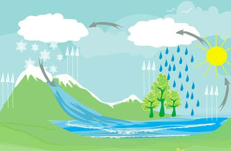 دورة المياه الطبيعية
