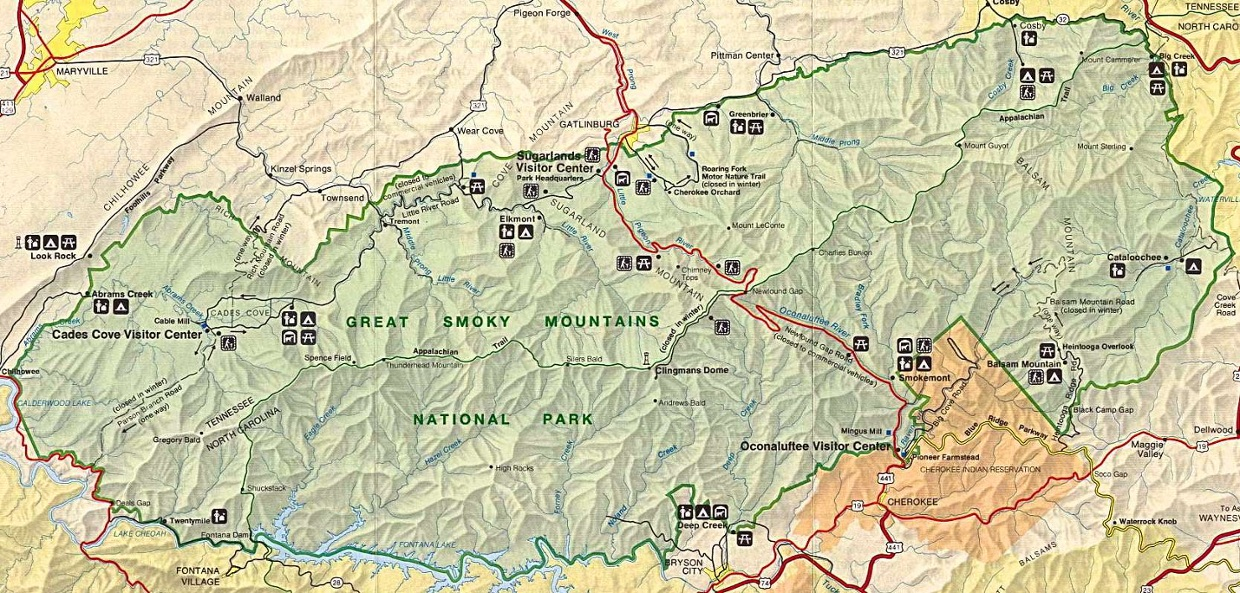 Great Smoky Mountains Map by CW and CS