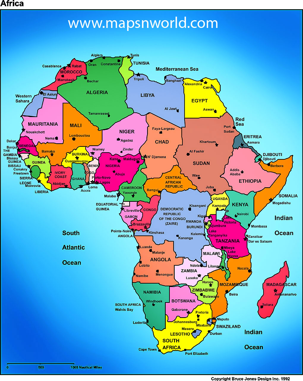 Africa Mrs Volaks Second Grade - Map of africa for kids