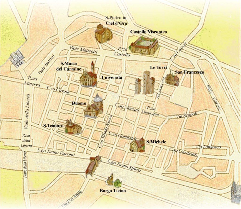 Cartina Lombardia Pavia.Sulle Tracce Di Leonardo A Pavia La Mappa La Provincia Pavese Pavia
