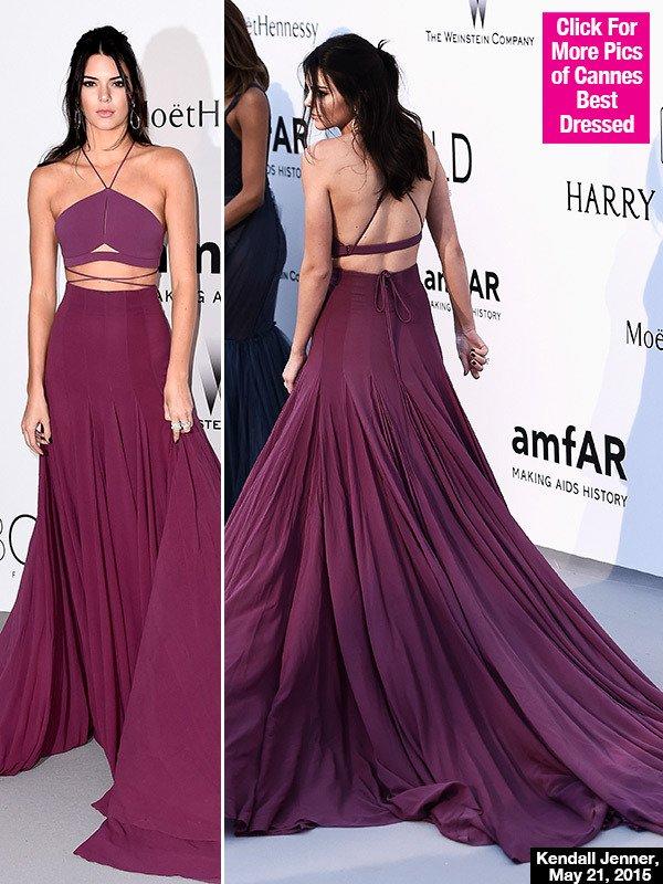 fb51ccb4b Kendall Jenner s amfAR Gala Dress At Cannes — Flaunts Midriff In ...