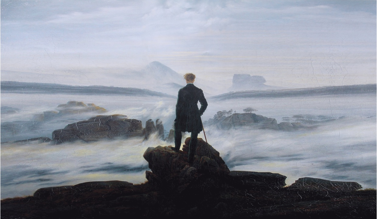"""""""Wanderer Above the Sea of Fog"""" was painted by Caspar Dav..."""