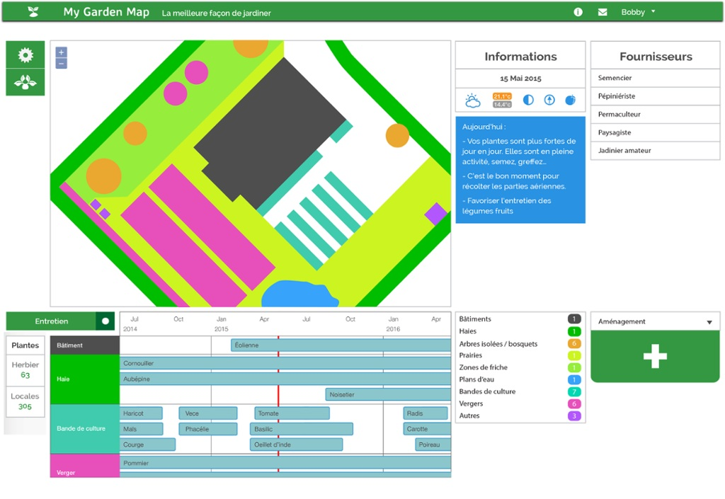 My garden map gestionnaire de jardin thinglink for Jardin tablet uses
