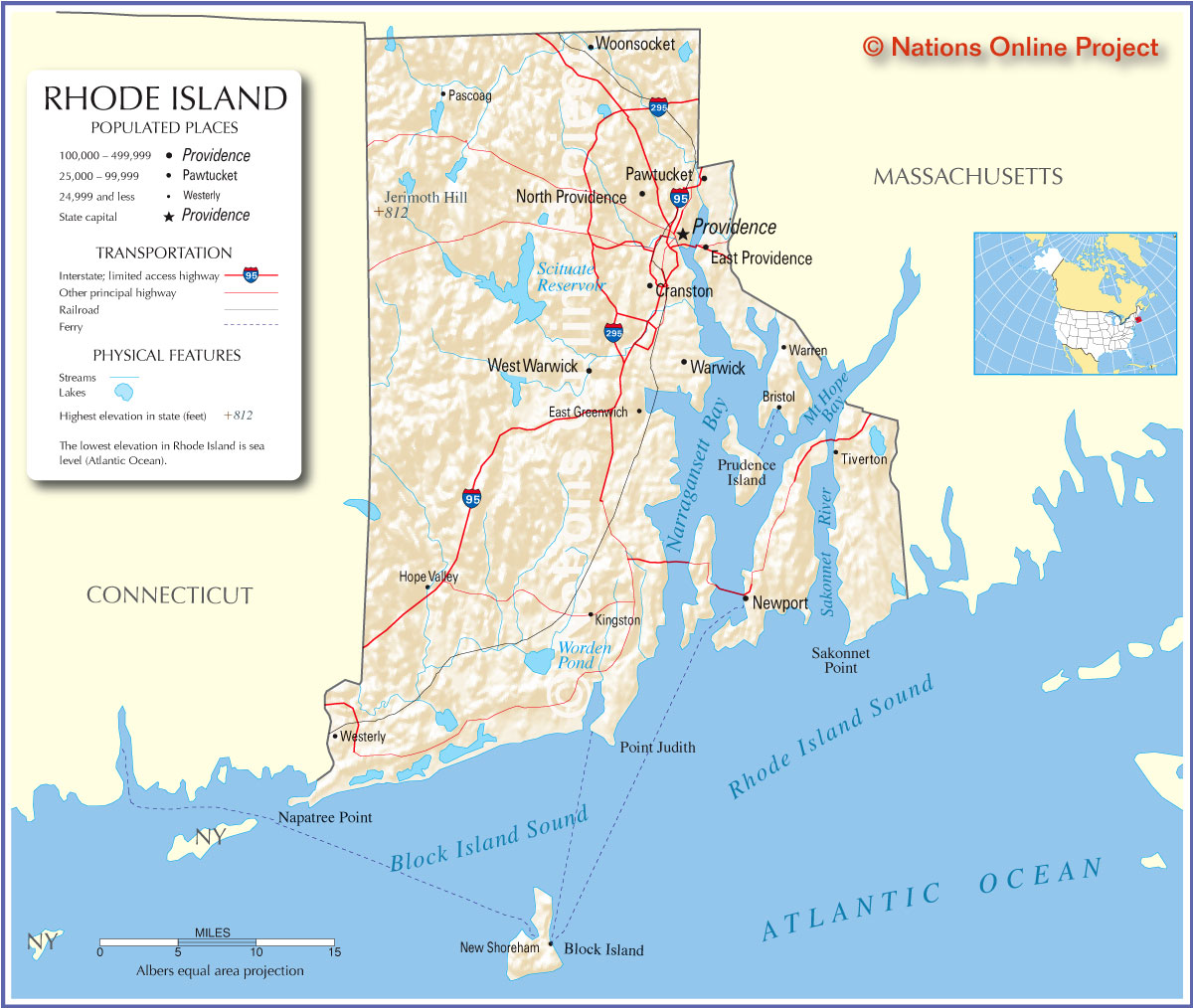 Rhode Island Places To Visit ThingLink - Road island usa map
