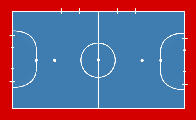 Imen salima rania f tbol sala thinglink for Pista de futbol sala medidas