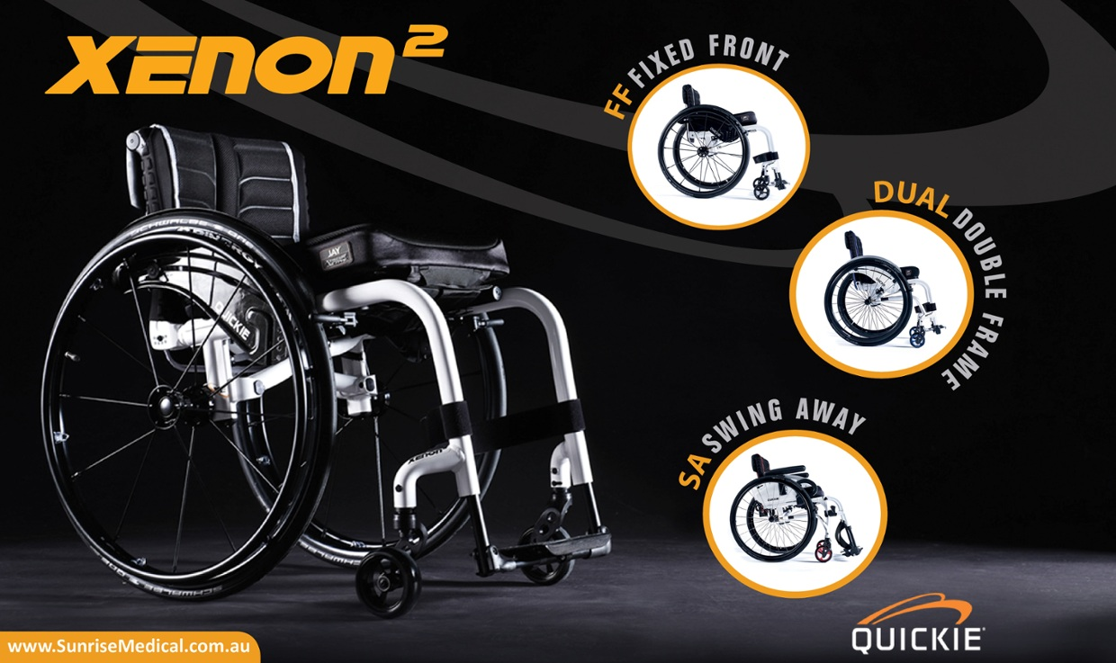 Quickie Xenon 2 - Light Weight Folding Frame Wheelchairs