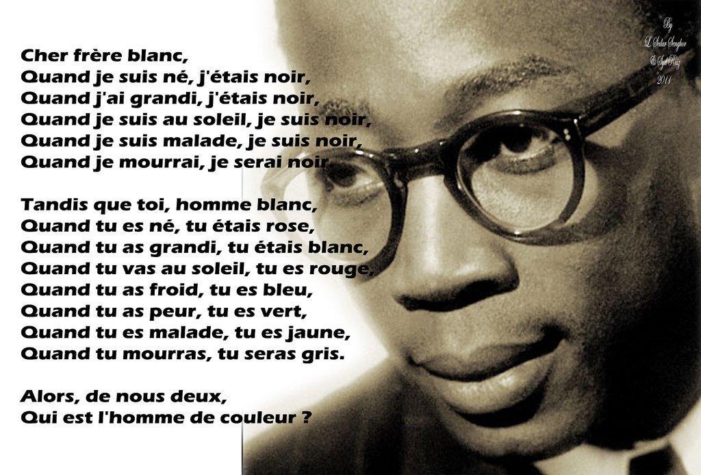 Biographie (1906-2001) , carte du Sénégal , citation , ci...