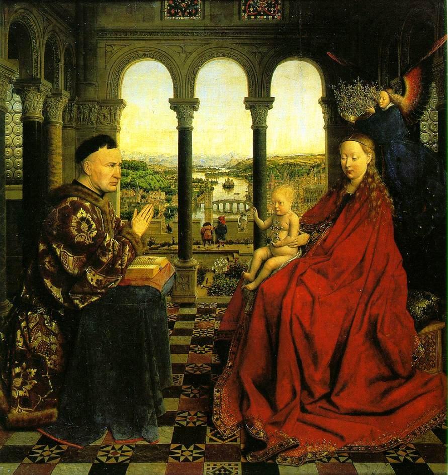 Vierge au chancelier Rolin, Jan Van Eyck, vers 1435