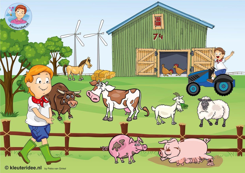 Interactieve praatplaat, thema boerderij, kleuteridee.nl
