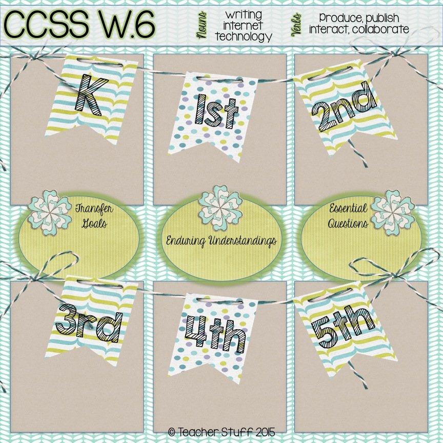 Backward Planning: CCSS W.6