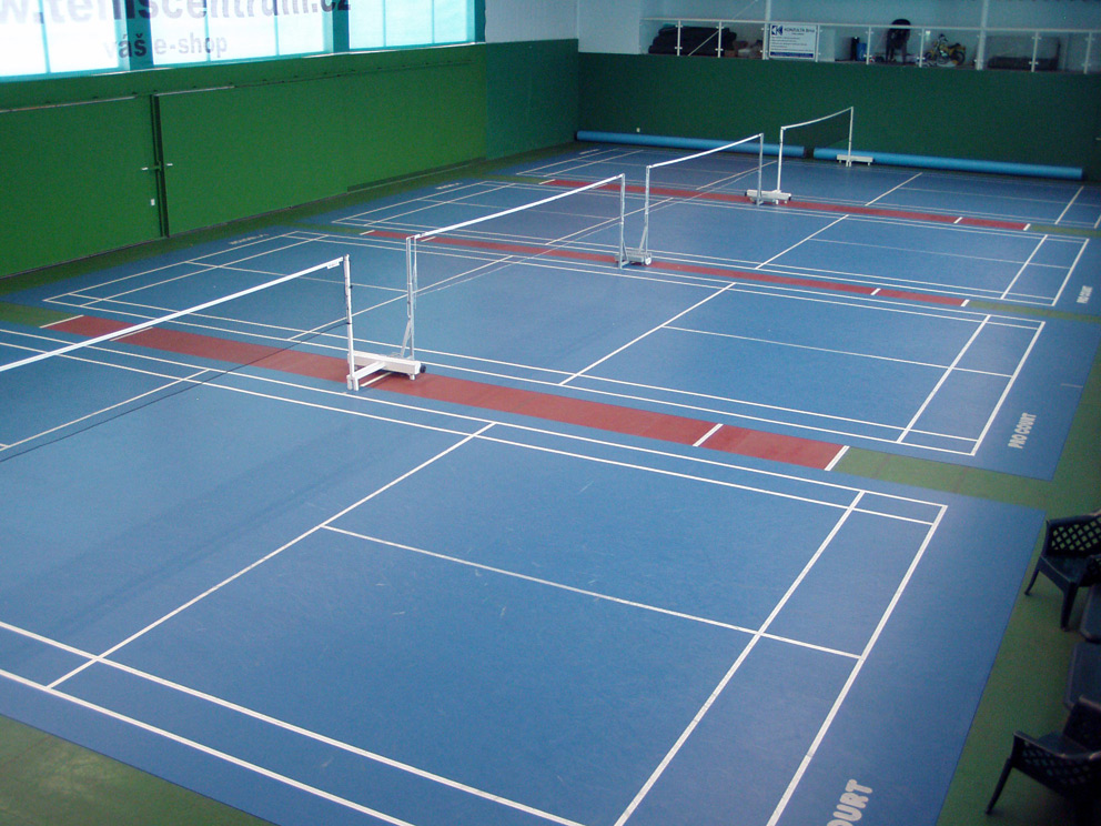 how to draw badminton court lines