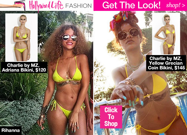 bdc2aaf82 Rihanna s Sexy Itsy Bitsy Yellow Bikinis — SHOP Her Exact Bathing Suits