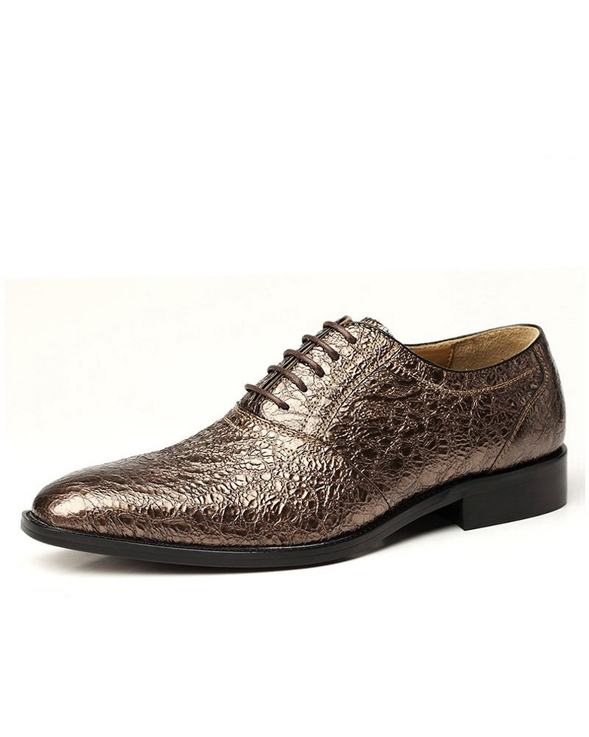 Mens Glitter Leather Oxfords Shoes