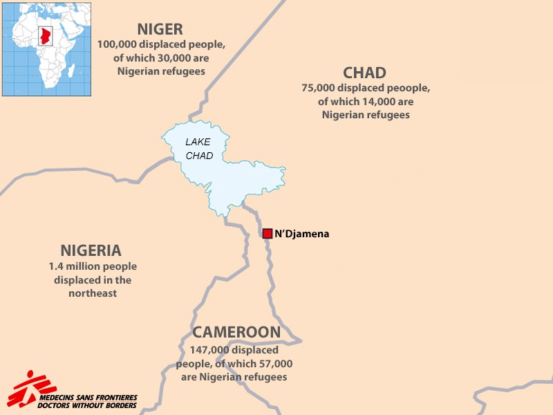 Image Of The Week An Interactive Map Lake Chad Region By Doctors Without Borders