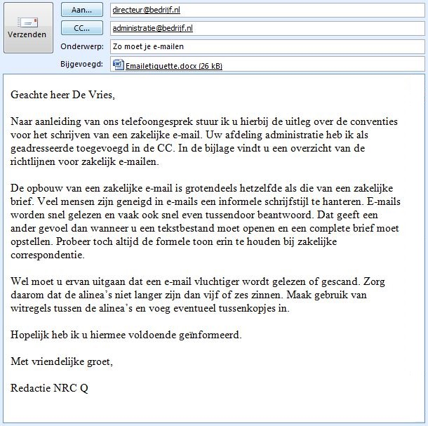 aanhef ontslagbrief Beste, hallo, hi of dag; hoe schrijf je een zakelijke e mail?   NRC aanhef ontslagbrief