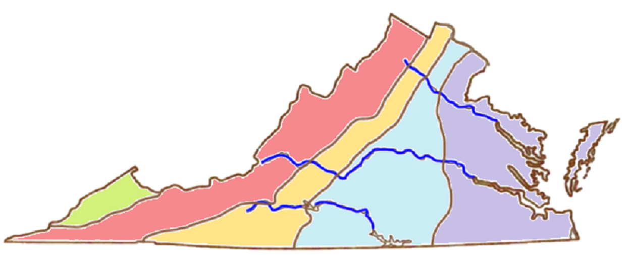 Geographic Regions Of Virginia Map.5 Geographic Regions Of Va
