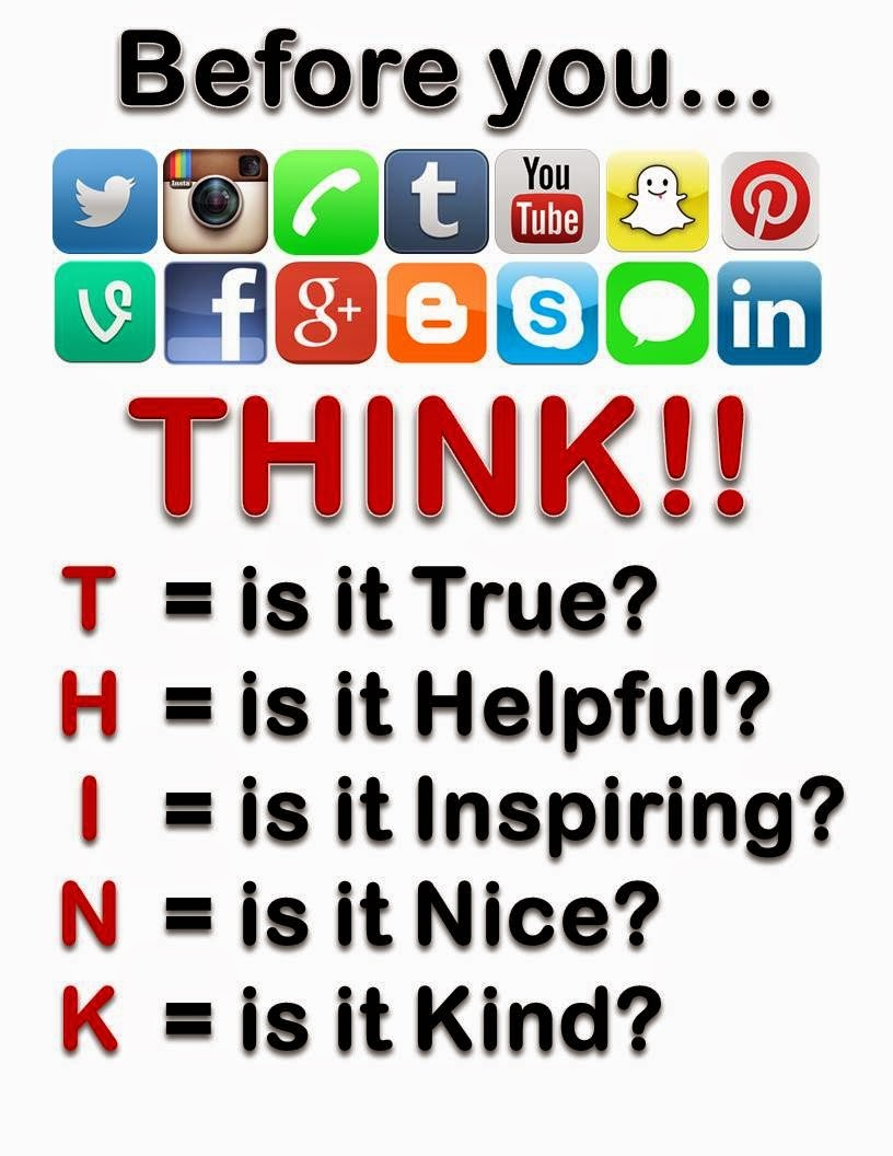 Before you post something, think!