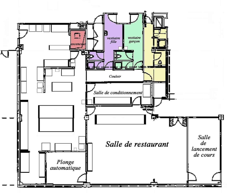Plan de la cuisine p dagogique groupe 2 thinglink for Cuisine ouverte restaurant norme
