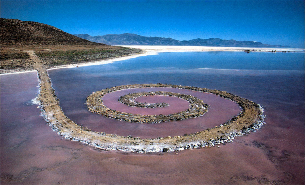 robert smithson spiral jetty essays Robert smithson and the anglo-american picturesque  having completed spiral jetty in 1970 smithson  having briefly placed the olmsted essay in the context of .