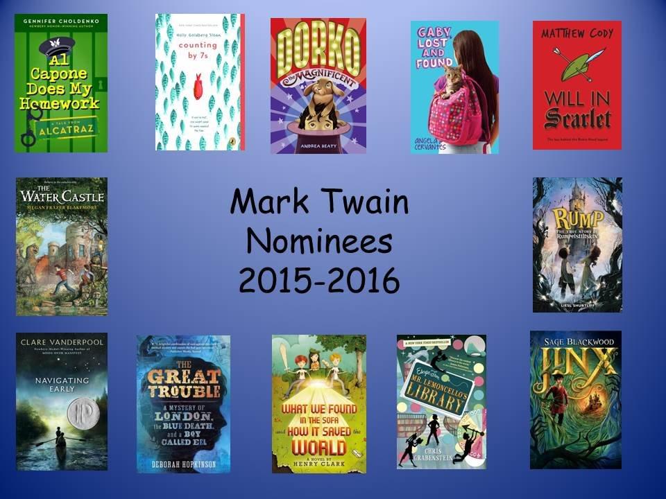 Mark Twain Nominees 2015-2016