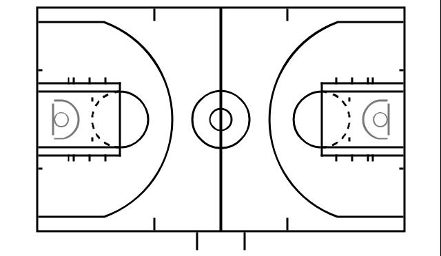 Three-point line, Backboard, Basket (hoops), Free throw l...