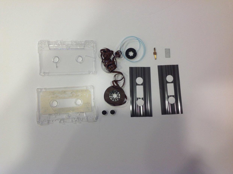 A cassette tape deconstruction