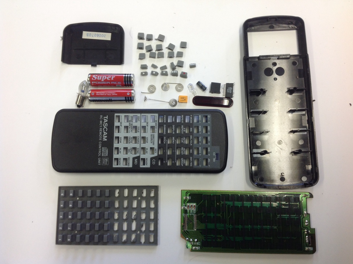 TV remote control disassembly