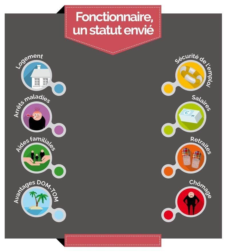 Infographie Salaire Logement Maladie Fonctionnaire Un Statut