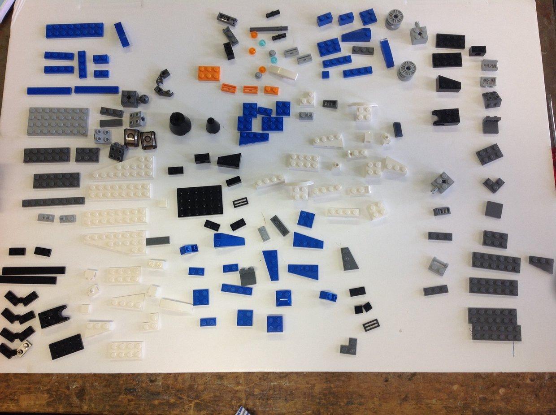 Blue LEGO Jet deconstruction